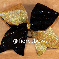 Glitter and Sequin Cheer Bow