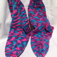Purple Pink Blue Womens Sock Socks .. on Luulla