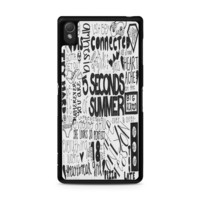5 Seconds of Summer Songs Collage For Sony Xperia Z3 Case