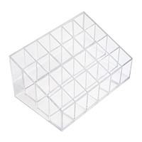 Marrywindix 24 Stand Transparent Plastic Trapezoid Makeup Cosmetic Organizer Display Stand Holder Box
