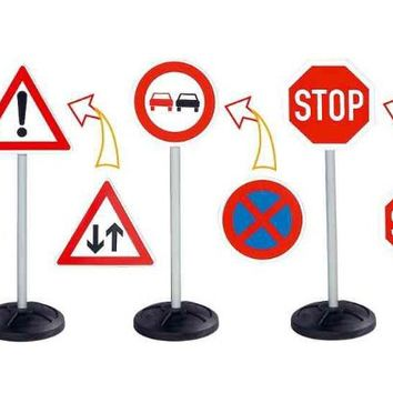 Child's Stand-Up Road Sign Set - £29.95 : Kids Electric Cars, Little Cars for Little People