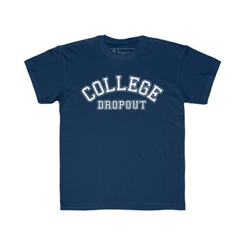 College Drop Out T-Shirt Navy Youth Quickstrike