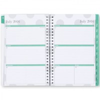 Blue Sky Penelope Academic Year Weekly/Monthly 5 x 8 Planner, July 2016 - June 2017