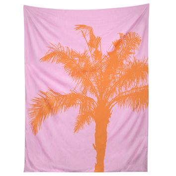 Orange Palm Tapestry