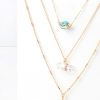 Abundance Gold and Turquoise Layered Necklace