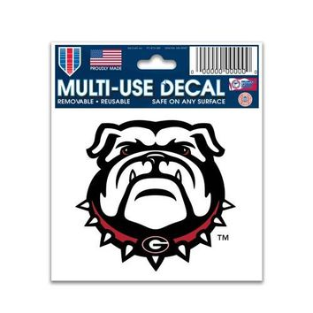 NCAA Georgia Bulldogs 3X4 Multi Use Decal