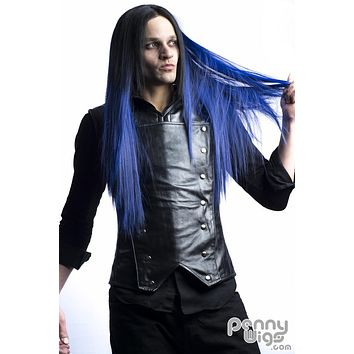 Midnight Blue Invisible U- Part Wig
