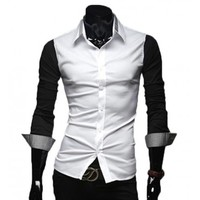 The Griffin Tailored Fit Shirt Black/Grey - leatherandcotton