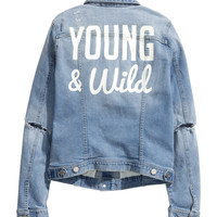H&M Printed Denim Jacket $49.95
