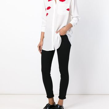 Equipment Equipment X Garance Doré Lip Print Shirt - Banner - Farfetch.com
