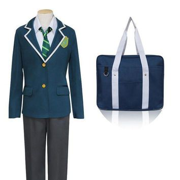 Japanese Anime Makoto Shinkai New Movie Your Name Cosplay Costumes Tachibana Taki School Costume With Bag - Beauty Ticks
