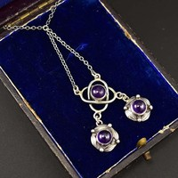 Fine Arts & Crafts Silver Amethyst Pendant Necklace