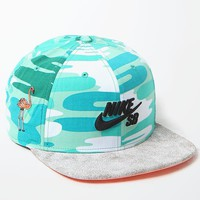 Nike SB Crackle Pro Snapback Hat - Mens Backpack - White/Silver - One
