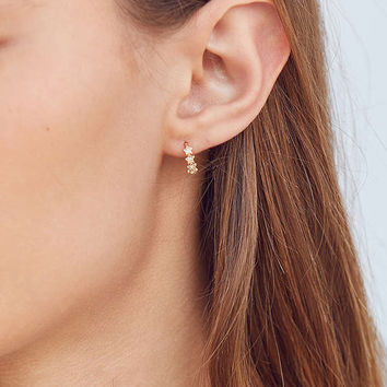 18k Gold + Sterling Silver Plated Huggie Hoop Earring | Urban Outfitters