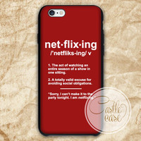 Net Flix Ing iPhone 4/4S, 5/5S, 5C Series, Samsung Galaxy S3, Samsung Galaxy S4, Samsung Galaxy S5 - Hard Plastic, Rubber Case