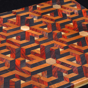 3D Geometric Illusion Cutting Board