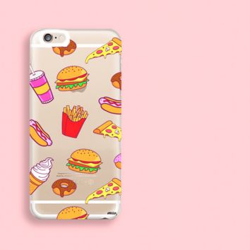 """""""CLEARANCE"""" iPhone 6 Clear Case Cover - Fast Food"""