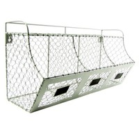 Rustic Chicken Wire Wall Storage 3 Bin Basket Primitive Country Farmhouse Decor - Walmart.com
