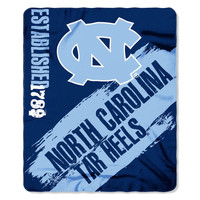 North Carolina Tar Heels 50x60 Fleece Blanket - College Painted Design