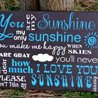 You are my Sunshine Subway art, canvas art, brown