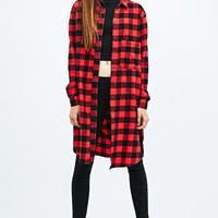 Light Before Dark Buffalo Check Shirt in Red - Urban Outfitters