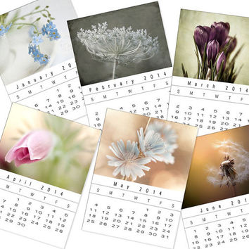 2014 Calendar, 2014 Flower Calendar, Fine Art Calendar, Holiday Gift, Christmas Gift, Gift Idea, 2014 Nature Calendar, desk calendar