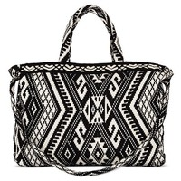 Women's Edge Stitch Tote Handbag Black - Mossimo Supply Co. ™