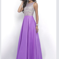 Intrigue 308 High Neck Beaded Prom Dress