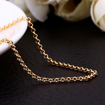 "18"" Gold Loop Chain"