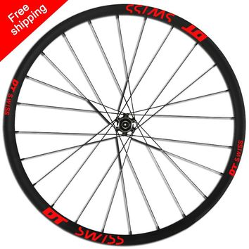 DT SWISS wheel set stickers for mountain bike 26 27.5 29 inch DT Swiss MTB bike rim replacement Cycling race reflective Decals