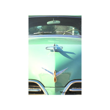 Studebaker Car Photo - Automobile Decor Mint - 1950's Hood