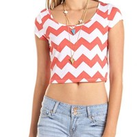 Printed Bow-Back Crop Top: Charlotte Russe