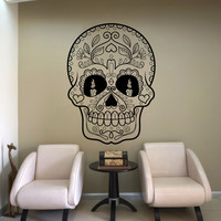 Vinyl Wall Decal Sticker Candles Sugar Skull #1180