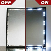 Crystal Vision Premium Samsung Pre-Installed Makeup Mirror LED Light Kit For Vanity Mirrors & Mirror Frames - Made In Korea (12.5ft)