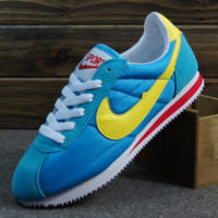 NIKE Cortez Forrest gump lovers shoes running shoes running shoes Blue yellow hook
