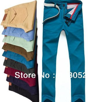 Candy Denim 9 Color  Leisure And Casual Pants 2013 New Style  Cotton Men's Jeans Novelty Trousers Straight Leg Size:28~38
