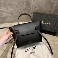 Céline Women Leather Shoulder Bag Shopping Satchel Tote Bag Handbag