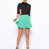 ASOS Pleated Skater Skirt