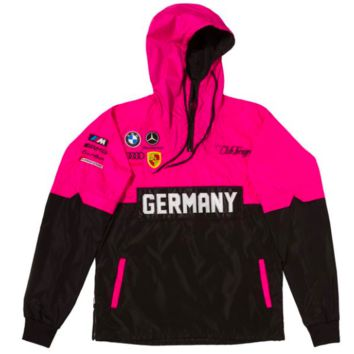 Club Foreign Two Tone Windbreaker in Pink & Black
