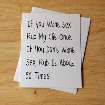 Naughty Card, Dirty Card, Boyfriend Gift, Husband Gift, Adult Humor, Sexy Card, Masturbation Card, Funny Card, Erotic Card, Sexual Note Card