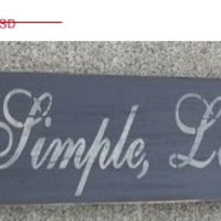 ON SALE TODAY Live Simple Love Deeply and have No Regrets Sign Custom Wooden Signs
