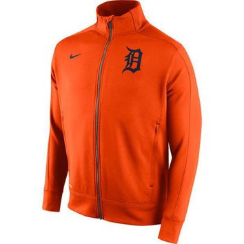 ESBON MLB Nike Detroit Tigers 2015 Mens Dri-Fit Track Jacket 1.5-Orange