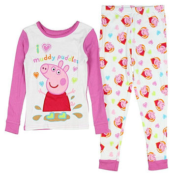 Peppa Pig Toddler Little Girls Cotton Pajama Set