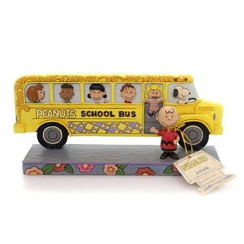 Jim Shore SCHOOL FOR BUDDIES Polyresin Peanuts Gang 4059439