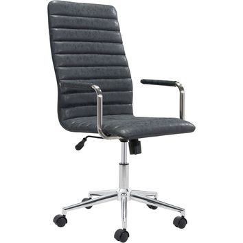 Pivot Office Chair, Vintage Black