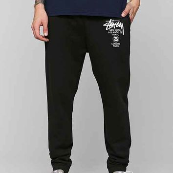 Stussy World Tour Sweatpant- Black