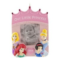 Disney Princess 1.6'' x 1.6'' Photo Christmas Ornament Hallmark
