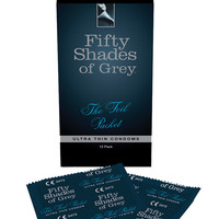 Fifty Shades Of Grey The Foil Packet Condoms - Pack Of 12