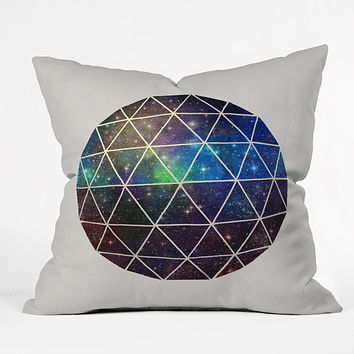 Terry Fan Space Geodesic Throw Pillow