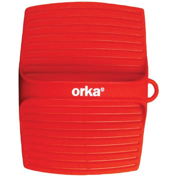 ORKA OG110101 Square Pot Holder with Handle (Red)